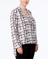 Alfani Plus Size High-Low Top, Created for Macy's