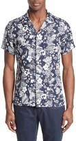 Todd Snyder Men's Trim Fit Floral Print Linen Camp Shirt