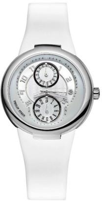 Philip Stein Teslar 31-AW-RWLadies WatchAnalogue QuartzWhite DialWhite Silicone Bracelet
