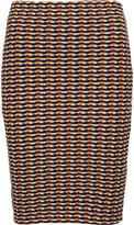 Opening Ceremony Check jacquard-knit mini skirt