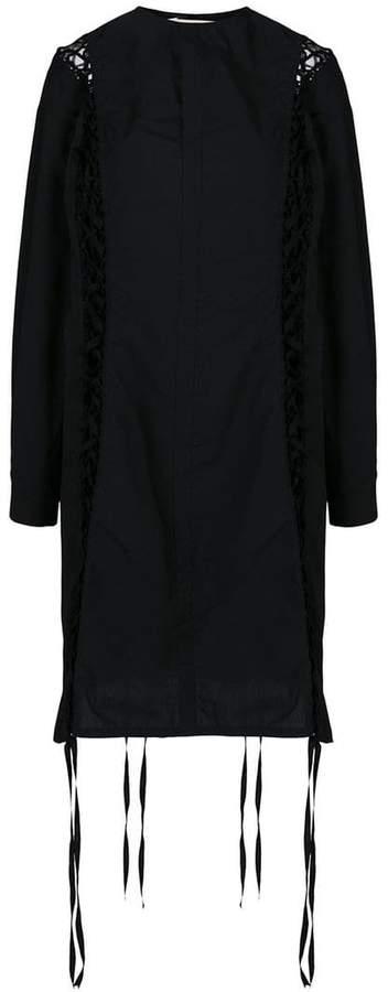 Damir Doma lace-up shirt dress