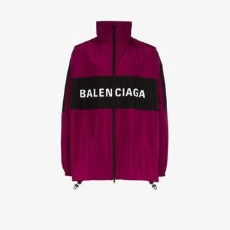 Balenciaga two tone logo track jacket