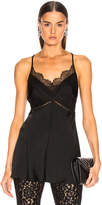 Victoria Beckham Lace Cross Back Cami Top in Black | FWRD