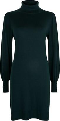 Wallis Green Roll Neck Jumper Dress