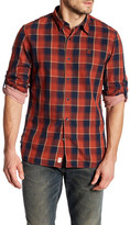 Timberland Double Layer Plaid Long Sleeve Slim Fit Shirt