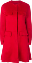 Giambattista Valli collarless flare coat
