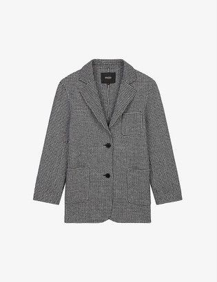 Maje Gariona single-breasted wool-blend blazer