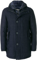 Herno checked single-breasted coat
