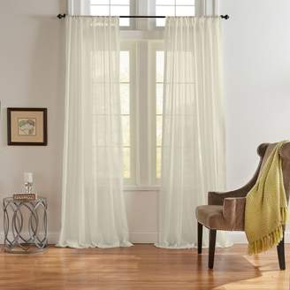 """Asher Cotton Voile Sheer Curtain Panel, 52"""" x 95"""""""