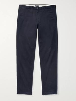 Club Monaco Connor Slim-Fit Cotton-Twill Chinos - Men - Blue
