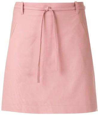 Egrey Tie Waist Double Pocket Skirt