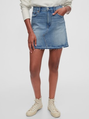 Gap Distressed Denim Mini Skirt
