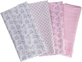 Laura Ashley Laddered Blanket, Gray Floral/Pink by