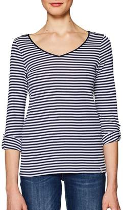 Esprit Breton Striped T-Shirt with Long-Sleeves