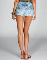 CELEBRITY PINK Paisley Womens Denim Cutoff Shorts