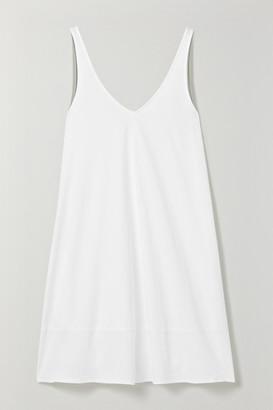 Skin - Emmaline Pima Cotton-jersey Chemise - White