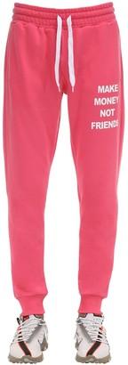 Make Money Not Friends Neon Cotton Jersey Sweatpants