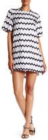Thomas Wylde Short Sleeve Silk Dress