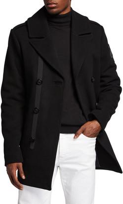 Moose Knuckles Men's Calvington Wool-Blend Coat w/ Removable Hood