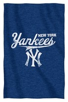 "New York Yankees MLB Sweatshirt Throw - Navy (84"" L x 54"" W)"