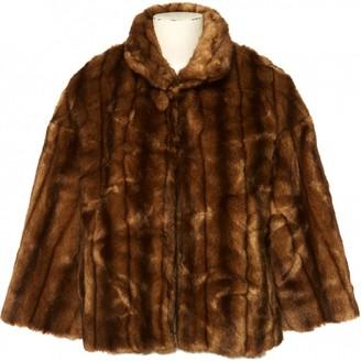 Chloé Brown Faux fur Jackets