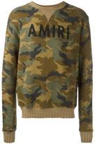 Amiri distressed camouflage sweatshirt