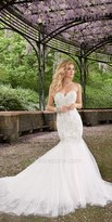 Camille La Vie Rhinestone Drop Waist Wedding Dress