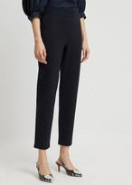 Emporio Armani Slim-Fit Pants In Milano Knit Fabric With Satin Band