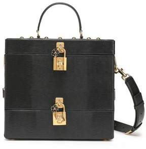 Dolce & Gabbana Embellished Textured-leather Cosmetics Case