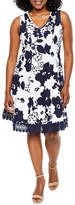 Studio 1 Sleeveless Floral Fit & Flare Dress-Petites