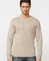 Le Château Linen V-Neck Sweater