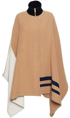 Chloé Color-block Wool-blend Cape