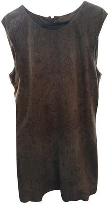Drome Khaki Leather Dresses