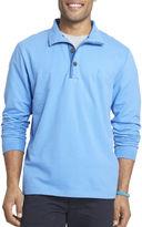 Izod Hampton Long-Sleeve Button Mock Fleece Pullover