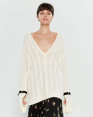Philosophy di Lorenzo Serafini Pearl Cable Knit Long Sleeve Sweater
