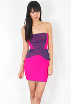 BOULEE Serena Dress in Fuschia