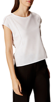 Karen Millen Lace Trim T-Shirt, White