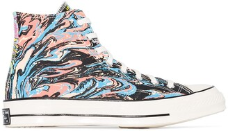 Converse Multicoloured Marble Chuck 70 high top sneakers