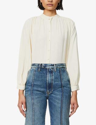 Sessun High-neck crepe blouse