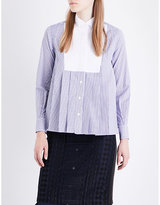 Sacai Pleated jersey shirt