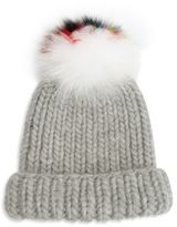 Eugenia Kim Fur Pom-Pom & Wool Beanie