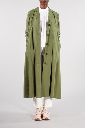 Selected FOUR LEAF CLOVER GREEN TINKA TRENCH COAT - 34