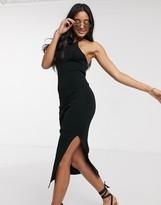 Asos Design DESIGN halter neck knitted midi dress