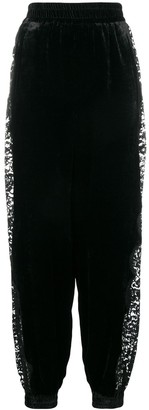 Stella McCartney Lace Insert Velvet Hareem Pants