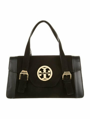 Tory Burch Suede Handle Bag Black