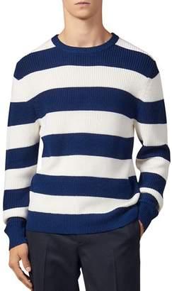 Sandro Johnny Wide-Striped Crewneck Sweater