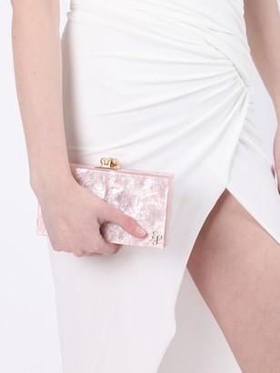 Edie Parker Slim Jean Box Clutch Rose Quartz