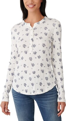 Lucky Brand Printed Pointelle Henley