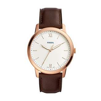Fossil Men's The Minimalist 3H Stainless Steel Quartz Leather Strap