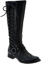 Børn Leather Riding Boots w/ Side Lace-Up Detail - Estelle